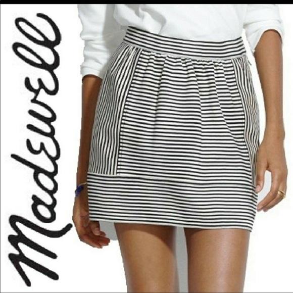 Madewell Dresses & Skirts - Madewell Women's Ponte Swivel Striped Mini Skirt